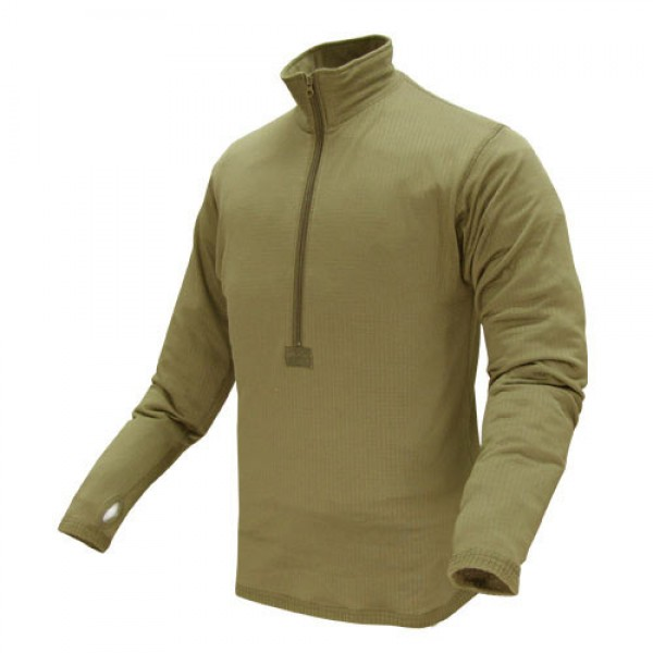 CONDOR Пуловер Base II Zip Pullover TAN S