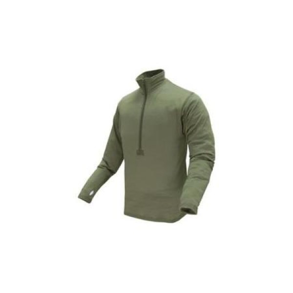 CONDOR Пуловер Base II Zip Pullover OD GREEN XL